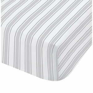 Šedo-bílé bavlněné povlečení Bianca Check And Stripe, 90 x 190 cm