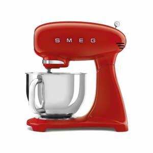 Červený kuchyňský robot s nerezovou mísou SMEG 50's Retro, 4,8 l