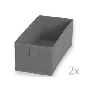 Sada 2 šedých textilních boxů JOCCA, 28x13cm