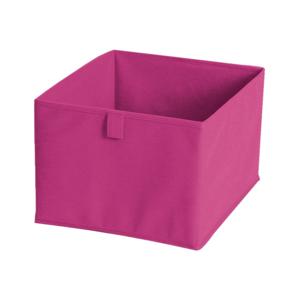 Růžový textilní úložný box JOCCA, 28x28cm