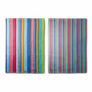Sada 2 bavlněných utěrek Remember Purple Stripes, 70x50cm