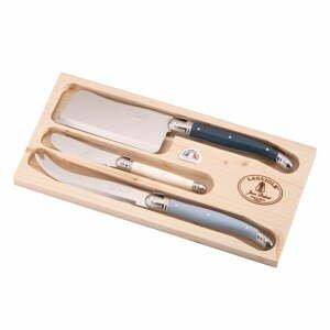 Sada 3 nožů na sýry z nerezové oceli v dřevěném balení Jean Dubost Atelier