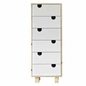 Komoda se šesti zásuvkami Karup Design House Natural/White