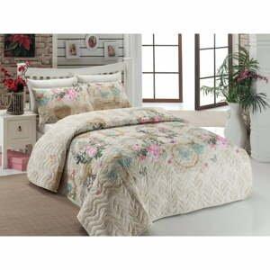 Přehoz přes postel na dvoulůžko s povlaky na polštáře Angel,200x220cm