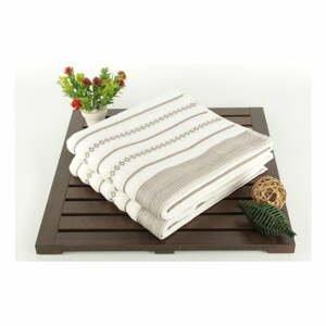 Sada 2 krémových ručníků Patricia Bombeli, 50x90cm