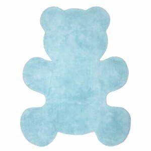 Dětský modrý ručně vyrobený koberec Nattiot Little Teddy, 80x100cm