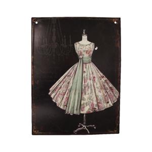 Plechová cedule Antic Line Prom Dress