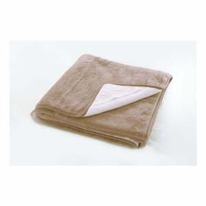 Hnědý ochranný potah na matraci z merino vlny Royal Dream,90x200cm
