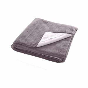 Šedý ochranný potah na matraci z merino vlny Royal Dream, 90x200 cm
