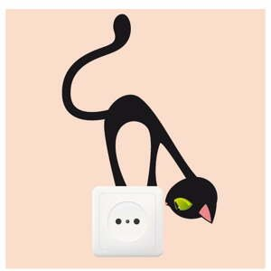 Samolepka Ambiance Curious Cat, 17 x 12 cm