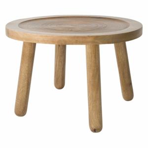 Odkládací stolek z mangového dřeva Zuiver Dendron, ⌀60cm