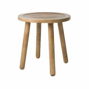 Odkládací stolek z mangového dřeva Zuiver Dendron, ⌀43cm