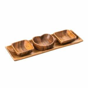Servírovací misky s tácem z akátového dřeva Premier Housewares Socorro