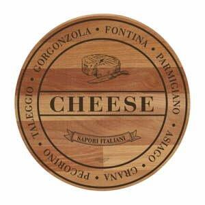 Prkénko z bukového dřeva Bisetti Broad Cheese,ø 30cm
