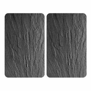 Sada 2 skleněných krytů na sporák Wenko Slates,52x30cm