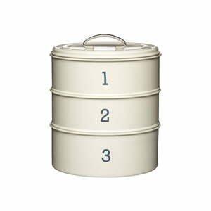 3dílná plechová dóza v krémové barvě Kitchen Craft Nostalgia