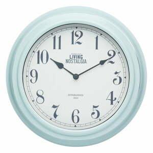 Modré nástěnné hodiny Kitchen Craft Living Nostalgia Blue, ⌀ 25,5 cm