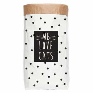 Úložný pytel z recyklovaného papíru Really Nice Things Love Cats