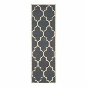 Tmavě šedý vlněný běhoun Safavieh Everly 76x243cm