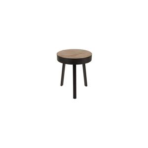 Odkládací stolek z teakového dřeva White Label Suri Round
