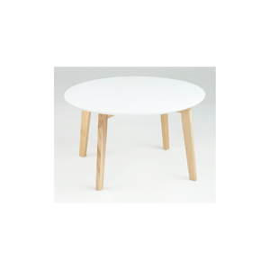 Bílý konferenční stolek Actona Molina, ⌀ 80 cm