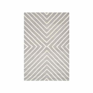 Šedý vlněný koberec Safavieh Prita, 121x182cm