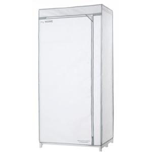 Bílá textilní šatní skříň Compactor Wardrobe X1
