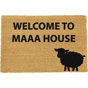 Rohožka z přírodního kokosového vlákna Artsy Doormats Welcome to Maaa House,40x60cm