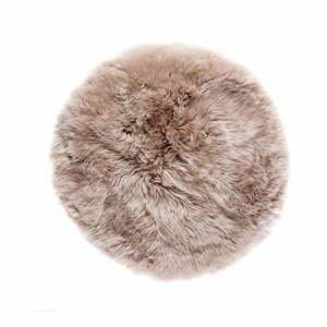 Světle hnědý koberec z ovčí kožešiny Royal Dream Zealand,⌀ 70cm