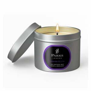 Svíčka s vůní levandule a limetky Parks Candles London, 25 hodin hoření