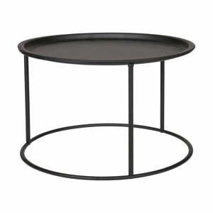 Černý konferenční stolek WOOOD Ivar, Ø56cm