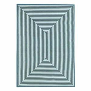 Modrý venkovní koberec Floorita Braid, 200 x 285 cm
