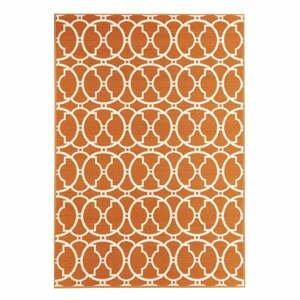 Oranžový venkovní koberec Floorita Interlaced, 160 x 230 cm