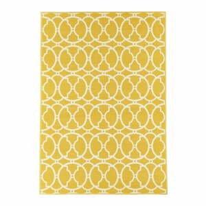 Žlutý venkovní koberec Floorita Interlaced, 133 x 190 cm