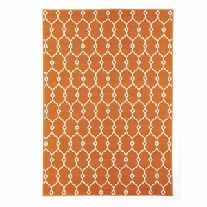 Oranžový venkovní koberec Floorita Trellis, 160 x 230 cm