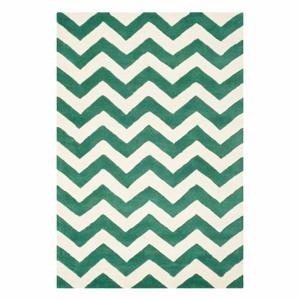 Zelený vlněný koberec Safavieh Crosby, 182 x 121 cm