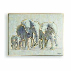 Ručně malovaný obraz Graham & Brown Elephant Family,80x60cm