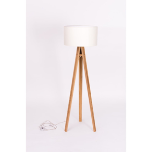 Bílá stojací lampa Ragaba