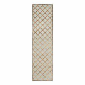 Hnědý koberec z viskózy Safavieh Anguilla, 66x243cm