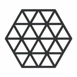 Černá silikonová podložka pod horké nádoby Zone Triangles