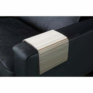 Hnědá flexibilní dřevěná područka na pohovku WOOOD Tray