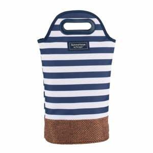 Tmavě modrá pruhovaná taška na 2 lahve Navigate Navy, 2l