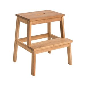 Přírodní dubová stolička/schůdky Rowico Nanna