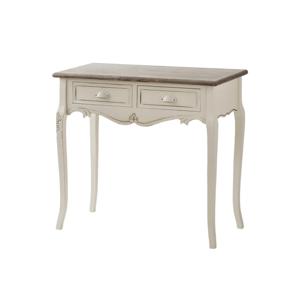 Krémový konzolový stolek z topolového dřeva se 2 zásuvkami Livin Hill Rimini
