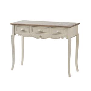 Krémový konzolový stolek z topolového dřeva se 3 zásuvkami Livin Hill Rimini