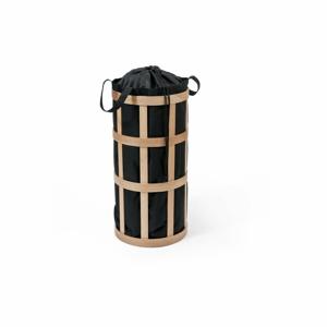 Světlý koš na prádlo s černým vakem Wireworks Cage