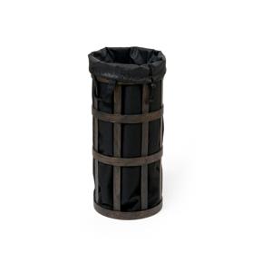 Černý koš na prádlo s černým vakem Wireworks Cage