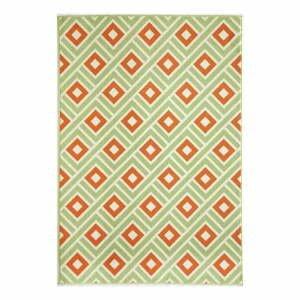 Oranžovo-zelený venkovní koberec Floorita Greca, 160 x 230 cm