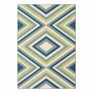 Modro-zelený venkovní koberec Floorita Rombi, 160 x 230 cm