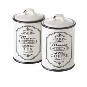 Sada 2 kameninových dóz na čaj a kávu Unimasa Paris, 750 ml